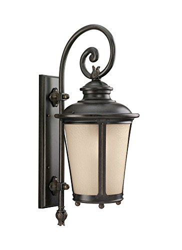 - Sea Gull Lighting 88242EN3-780 One Light Outdoor Wall Lantern, Burled Iron