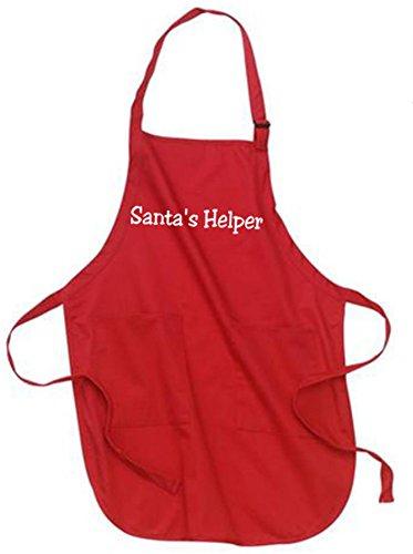 - Joe's USA Christmas Aprons - Santa's Helper Red Christmas Apron