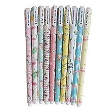 YeahiBaby Black Unicorn Flamingo Gel Pen Set - 0.5mm Fine Point Pen 10pcs Cute Stationery Gifts for Girls
