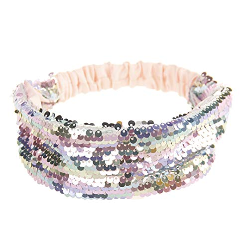 Reversible Sequin Girls Headband Mermaid Elastic Fabric Hairband Summer Style Wide Head Band For Female Women Hair Accessories 7 -