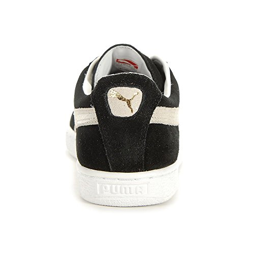 Puma Unisex Adults' Suede Classic Plus Low-Top Slippers Black-White 9rK9LS
