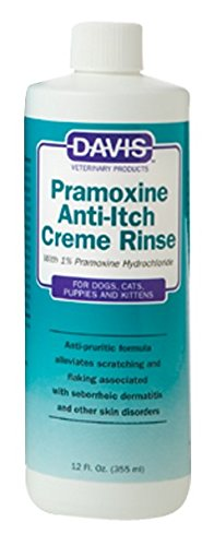 Davis Pramoxine Anti Itch Dog and Cat Creme Rinse, 12-Ounce Pramoxine Anti Itch