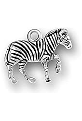 Sterling Silver Charm Zebra Comes with a Split Ring