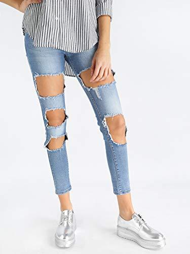 Bassa Strappato Vita Solada Jeans A RXqwvP