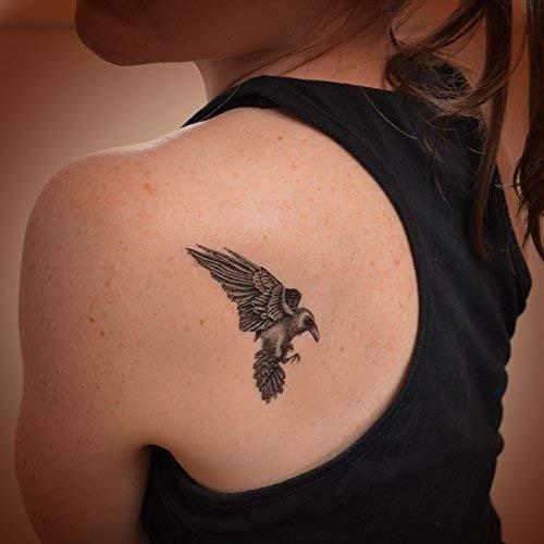 Raven Art Temporary Tattoo Amazoncouk Handmade