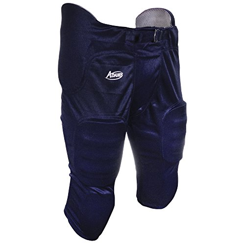 Adams USA Pro-Sheen Gameday Youth Football Pant with Integrated Pads Navy Blue, Large