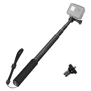 "ASOCEA Selfie Stick Adjustable Telescoping Monopod Pole 37"" for Gopro Hero 5 Black Hero 4 Silver AKASO APEMAN YI 4K Vivitar Gitup Git2 Sports Action Camera"
