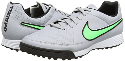 Green TF Leather Black Fußballschuhe Grey Tiempo Wolf Black Strike Nike Grau Genio Herren zTA4C