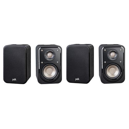 Polk Audio 2 Pairs Signature Series S10 2-Way American HiFi Home Theater Compact Satellite Surround Speaker, (4 speakers) by Polk Audio