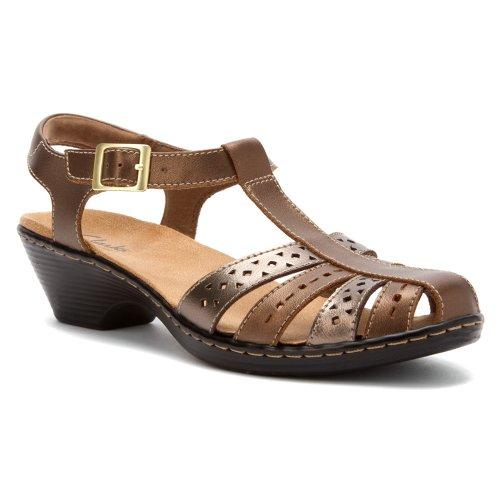 Clarks Women's Wendy Lily,Metallic Multi Leather,US 9 XW