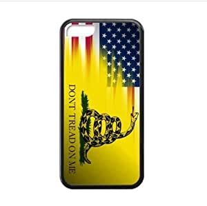 Fashionable Gadsden Flag Don't Tread On Me Design Apple iphone 5C TPU (Laser Technology) Case, Cell Phone Cover