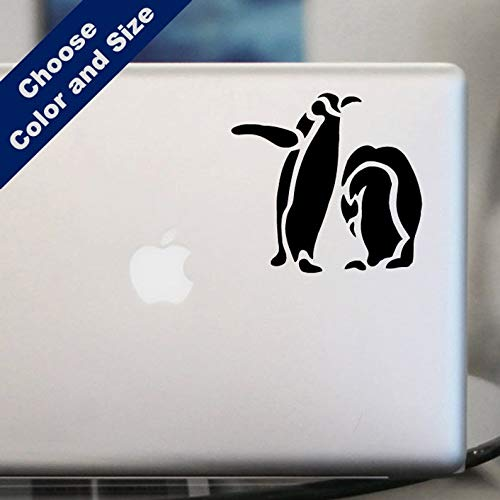 Penguin Duo (CELYCASY Penguin Duo Decal - Animal Sticker for Laptop, Car)