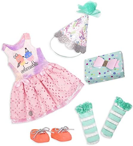 Glitter Girls by Battat – What A Surprise! – 14″ Deluxe Birthday Party Doll Outfit – Toys, Clothes, & Accessories for Girls Ages 3 & Up