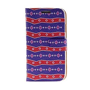 TOPAA Kinston Red And Blue Pearl Belt Pattern PU Leather Full Body Case with Stand for Samsung S4 I9500