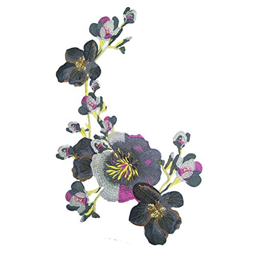 Vi.yo ワッペンアップリケ 刺繍フラワーパッチ 牡丹の花 おしゃれ 女の子 服アクセサリー 装飾 DIY縫製用 ギフト
