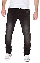Woosah Mens Jeans David, black (30099), W29/L32