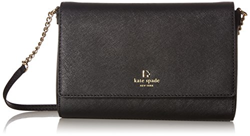 Kate Spade New York Charlotte Street Alek Leather Cross Body  Black
