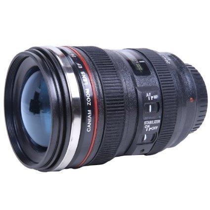 OmeGod New Looks Like SLR Lens 24-105mm Stainless Steel Travel Coffee Mug/Cup with Leak-proof Lid COMIN16JU048559