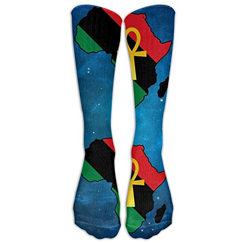 Ankh African Colored Africa Casual Unisex Sock Knee Long High Socks Sport Athletic Crew Socks One Size by pendant necklace