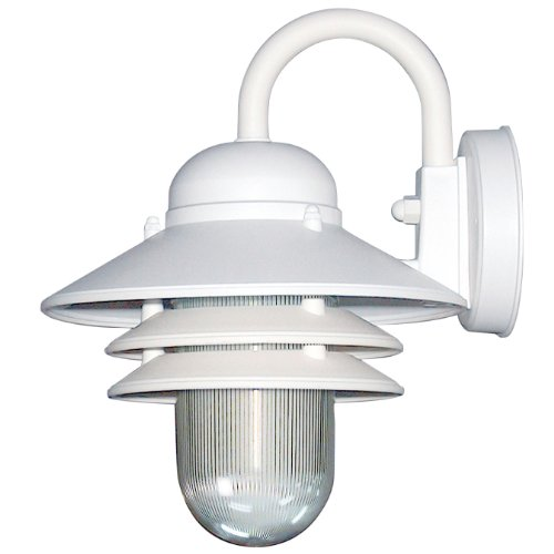 Sunlite 48202-SU DOD/NC/WH/CL/GU24 Decorative Outdoor Energy Saving Nautical Collection Polycarbonate Fixture, White Finish, Clear Lens (Collection Sunlites)