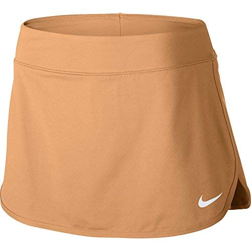 Nike Women's Pure 12'' Tennis Skirt,(Tangerine,Large)