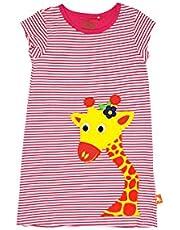 فستان بناتي من وايلد ريبابليك بتصميم زرافة، بخطوط وردية 6