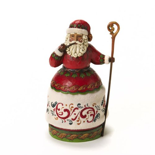 Enesco Jim Shore Heartwood Creek Santa with Pipe and Cane Figurine 10-Inch