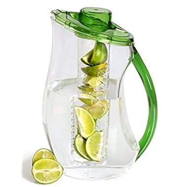 Fruit Infusion Pitcher 3.25 Quart By Decodyne (Green)
