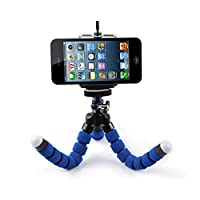 Easypro Universal Flexible Octopus Style Tripod with Universal Mobile Monopod Mount Adapter & Long Screw Mobile Holder (Colors as Available)