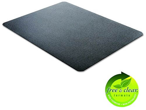 deflecto CM21242BLK EconoMat Anytime Use Chair Mat for Hard Floor 45 x 53 Black Photo #3