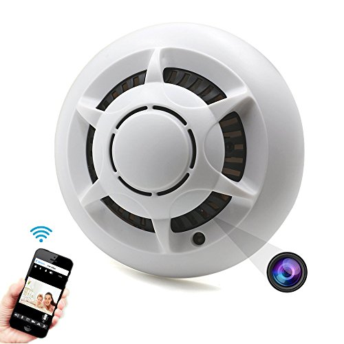 HD 1080P WiFi Hidden Camera Motion Detection Spy Camera Smoke Detector Nanny Cam Support IOS/Android Remote View Live Video P2P IP Wireless Home Security Camera