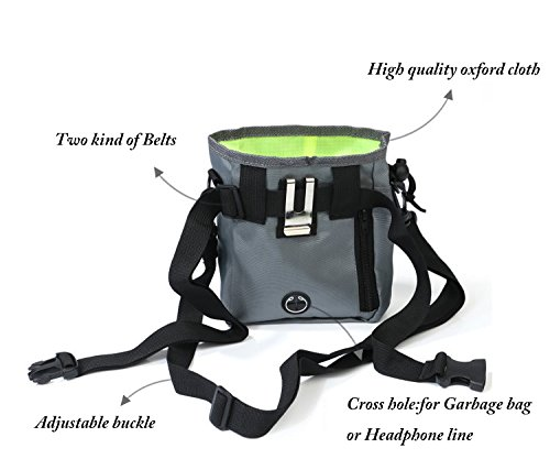 Dog Treat Pouch,Training Bag with Adjustable Waist Belt Shoulder Strap,Carry Pet Toys,Phone,Poop Bag,Dry Bag Sack-3 Ways To Wear -Black by Machao (Image #6)