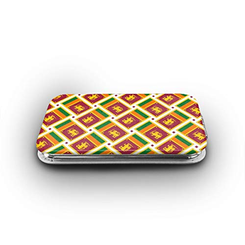 Cookfun Sri Lanka Flag Weave Makeup Mirror Mini Pocket Mirror -