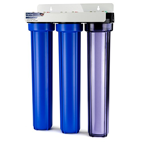 iSpring Whole House 3-Stage Water Filter System with Oversized Fine Sediment and Double Premium Carbon Block, WCB32C by iSpring