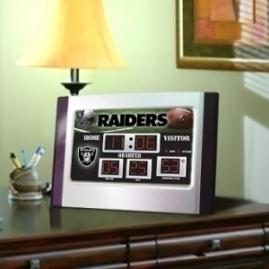 (Evergreen Oakland Raiders Scoreboard Desk Alarm Clock)