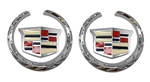 ration Cadillac Logo Symbol Metal Decals Labeling Car Stickers DIY 6CM, 2 Pack ()