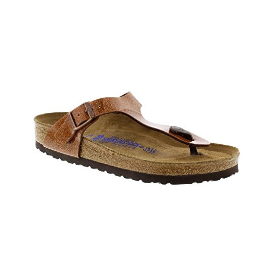 Birkenstock Gizeh Regular Fit - Magic Galaxy Bronze 847451 (Brown) Womens Sandals 43 EU