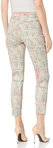 NYDJ Women's Ami Skinny Ankle Jeans with Side Seam Slits, Paisley Impression Canyon Clay, 18
