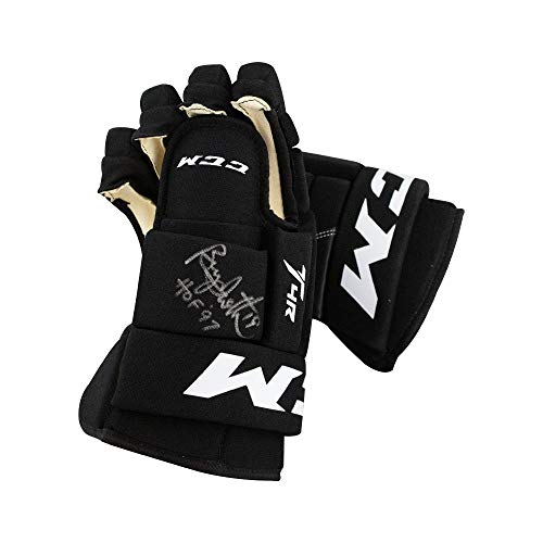 Bryan Trottier HOF 97 Autographed Hockey Gloves - BAS COA (Right Glove)