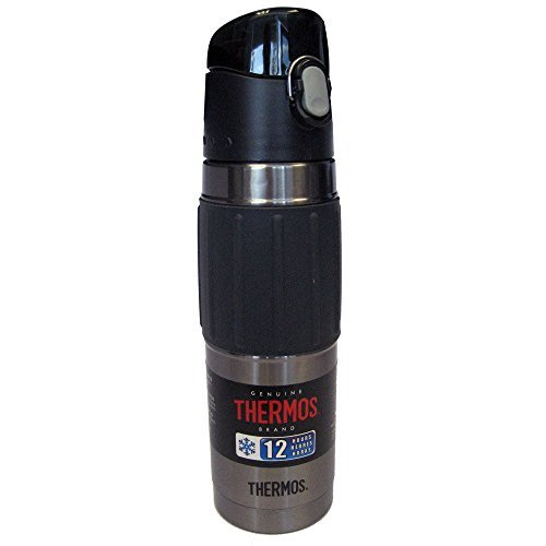 Thermos Vacuum Insulated Hydration Bottle - 18 oz - Stainless Steel/Charcoal by Thermos (Image #1)