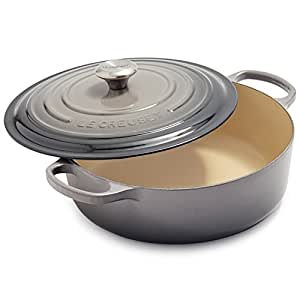 Le Creuset Signature Round Wide 3-1/2-Quart Dutch Oven, Oyster