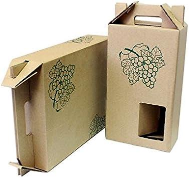 CAJA CARTÓN PORTAVINOS PARA 2 BOTELLAS ECO-KRAFT. LOTE 5 UNIDADES.: Amazon.es: Bricolaje y herramientas