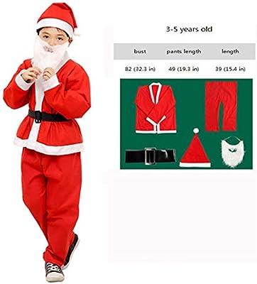 JINRUI Disfraz De Navidad para Niños Adultos Traje De Papá Noel ...