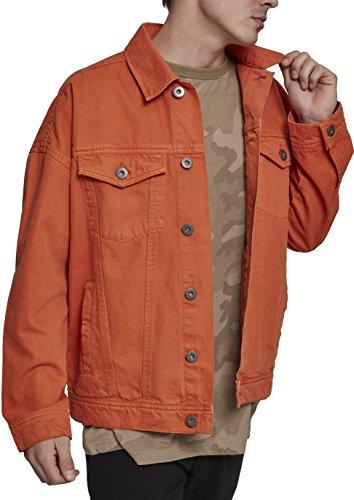 Urban Orange Hombre Garment Classics Rust Chaqueta Jacket para 01150 Oversize Naranja Vaquera Dye AaBrAw