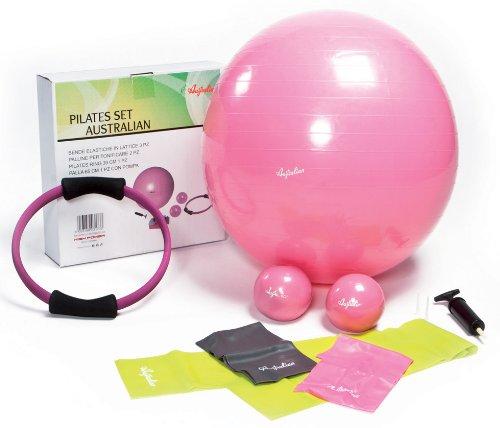 Pilates Set Australian Gym Ball Bänder Elastische Kugel Ring High Power Fitness