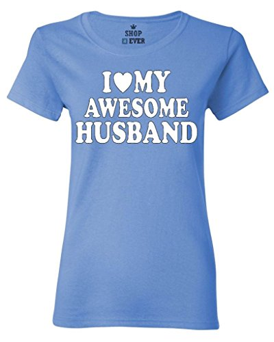 Shop4Ever I Love My Awesome Husband Womens T-Shirt Couples Shirts
