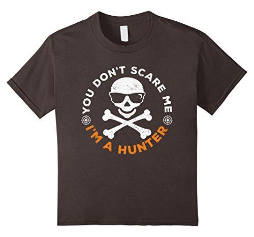 Kids You Don't Scare Me Hunter Halloween Costume Shirt 10 Asphalt