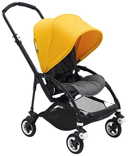 Bugaboo Bee5 Complete Stroller, Black, Grey Melange, Sunrise Yellow by Bugaboo