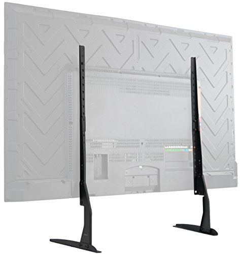 42 Fixed Tv - VIVO Universal LCD Flat Screen TV Table Top VESA Mount Stand Black | Base fits 22