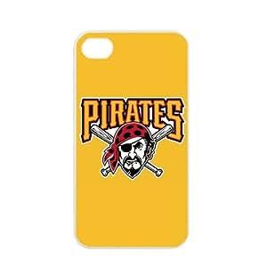MLB Major League Baseball Pittsburgh Pirates Apple iPhone 4 / 4s TPU Soft Black or White case (White)